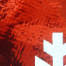 Bolsa navideña roja con estrellas de nieve - Detalle material