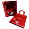 Bolsa navideña roja con estrellas de nieve - Conjunto 1
