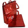 Bolsa navideña roja con estrellas de nieve - Conjunto 2