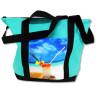 Bolsa de playa verde agua personalizada