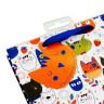 Bolsas de regalo diseño gatos - Tarjeta, colgador y cinta