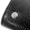 Bolso de mano símil piel cocodrilo - Detalle cierre