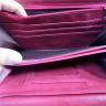 Bolso de señora simil piel rosa - Compartimentos interiores 2