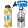 Botella de viaje de aluminio con tapón dosificador - Ejemplo personalizado