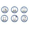 Braga de cuello antibacterias para sublimación - Formas de uso