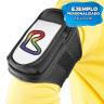 """Brazalete deportivo ajustable para móviles de hasta 6"""" - Ejemplo de uso"""