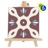 Caballete de madera clara - Ejemplo de uso