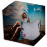 Caja de cartón con ventana recubierta de fieltro sublimable para taza - Caja personalizada con taza en el interior