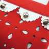 Calcetín de Navidad modelo cascabeles - Detalles de la tela