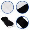 Calcetines para sublimación con base negra de algodón - Unión de tejidos, franja y caña compresora