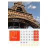 Calendario imprimible económico de sobremesa - Muestra diseño con foto