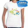 Camiseta de chica para sublimación de 140g - Ejemplo personalizado