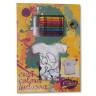 Camiseta infantil para colorear dibujo Perro - Kit