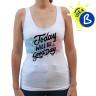 Camiseta tirantes de chica Party 165g 100% algodón - Ejemplo personalizado