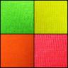 Camiseta Unisex fluorescente de Tirantes 100% Poliéster - Detalle tejidos fluorescentes