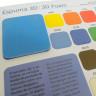Carta de colores fieltros, lonetas y espuma 3D - Detalle Espuma 3D