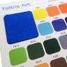 Carta de colores fieltros, lonetas y espuma 3D - Detalle Fieltros