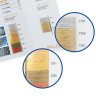 Carta de colores metalizados - Detalle de la muestra