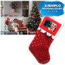 Calcetín de Navidad modelo cascabeles - Con carátula personalizada