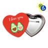 Chapas forma corazón de 57 x 52 mm - Ejemplo de uso