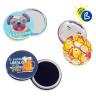 Chapas redondas Ø75mm - Chapas personalizadas modelos: alfiler, imán y espejo