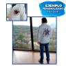 Chaqueta blanca con interior polar y cremallera entera - Ejemplo de personalización