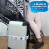 Cinta maleta para sublimación - Ejemplo personalizado