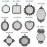 Colgantes para sublimación efecto doming - Tipos de gema por modelo