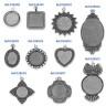 Colgantes para sublimación efecto doming - Tipos de marco por modelo