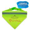 Collar para perro amarillo flúor con pañuelo y banda reflectante - Ejemplo de personalización