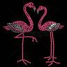 Diseño pedrería pareja flamencos