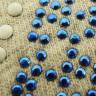 Diseño pedrería y lentejuela bandera UK - Detalle diseño sobre tejido
