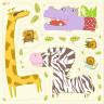 Diseño recortable tejido jirafa