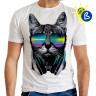 Diseño transfer Solar Gato DJ - Ejemplo de personalización