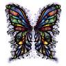 Diseño transfer Alas de mariposa multicolor - Pack de 4 uds
