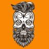 Diseño transfer calavera hipster - Pack 4 uds - Sobre tejido color