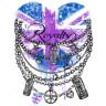 Diseño Transfer Corazón Británico con joyas pack 4 uds