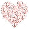 Diseño Transfer Corazón de corazones de la paz pack 4 uds