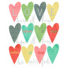 Diseño Transfer Corazones de colores - Pack 3 uds