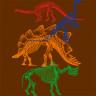 Diseño Transfer esqueletos dinosaurios