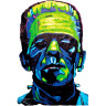 Diseño Transfer Frankenstein - Sin Fondo