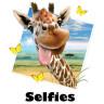 Diseño Transfer Giraffe Selfie - Sin fondo