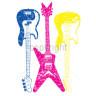 Diseño Transfer Guitarras Neon pack 4 uds