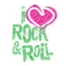 Diseño Transfer I Love Rock & Roll pack 4 uds