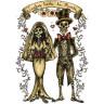 Diseño Transfer Juntos hasta la Muerte pack 4 uds