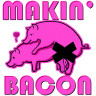 Diseño Transfer Makin' Bacon pack 4 uds