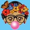 Diseño transfer muñeca Frida con chicle - Pack 4 uds - Sobre tejido color