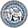 Diseño Transfer Elefante India - Pack 4 uds