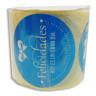 Etiquetas adhesivas Felicidades Lazo - Rollo de 125 uds
