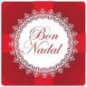 Etiquetas adhesivas Bon Nadal
